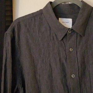 NWOT Billy Reid Slate Gray Casual Button Down
